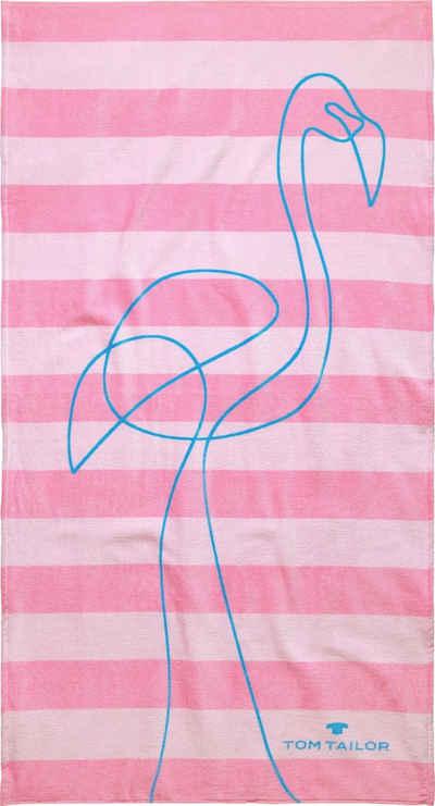 TOM TAILOR Strandtuch »Flamingo« (1-St), mit tollem Motiv