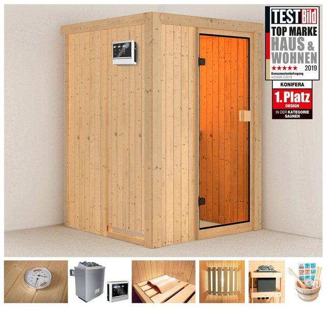 Saunen und Zubehör - KONIFERA Sauna »Kaino«, 136x136x198 cm, 9 kW Ofen mit ext. Steuerung  - Onlineshop OTTO