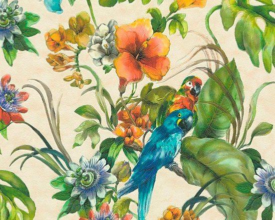 living walls Schaumtapete »Simply Decor«, aufgeschäumt, floral, realistisch, organisch, tropisch, (1 St), aufgeschäumt