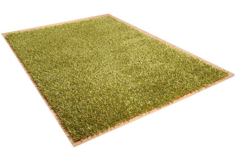 Hochflor-Teppich, Theko, »Linyi«, Höhe ca. 40mm, handgetuftet in grün