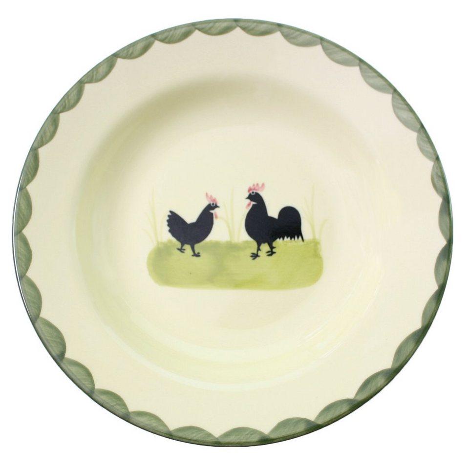 zeller keramik suppenteller tief hahn und henne otto. Black Bedroom Furniture Sets. Home Design Ideas