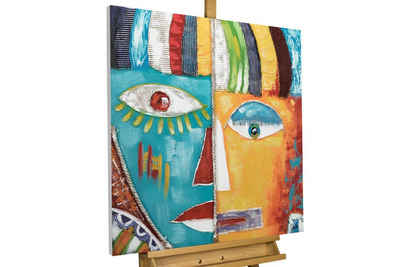 KUNSTLOFT Gemälde »Schillernde Fantasie«, handgemaltes Bild auf Leinwand