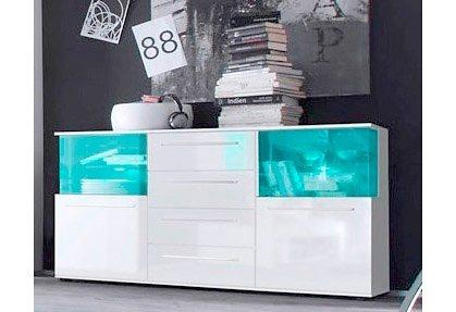 Sideboard, Breite 144 cm in weiß