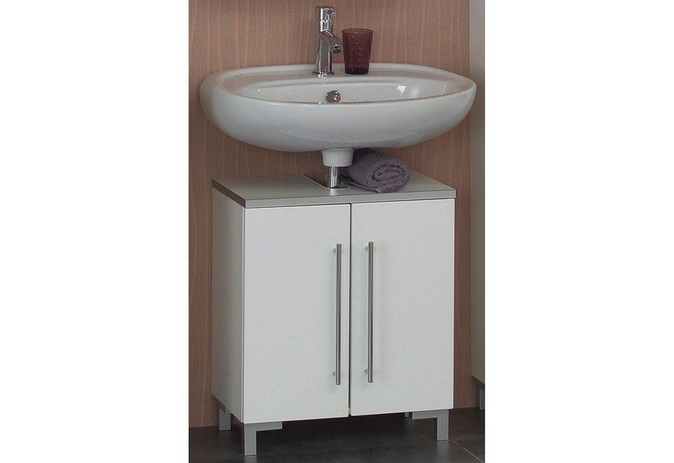 Waschbeckenunterschrank, Kesper, »Linde« in weiß-weiß hochglanz