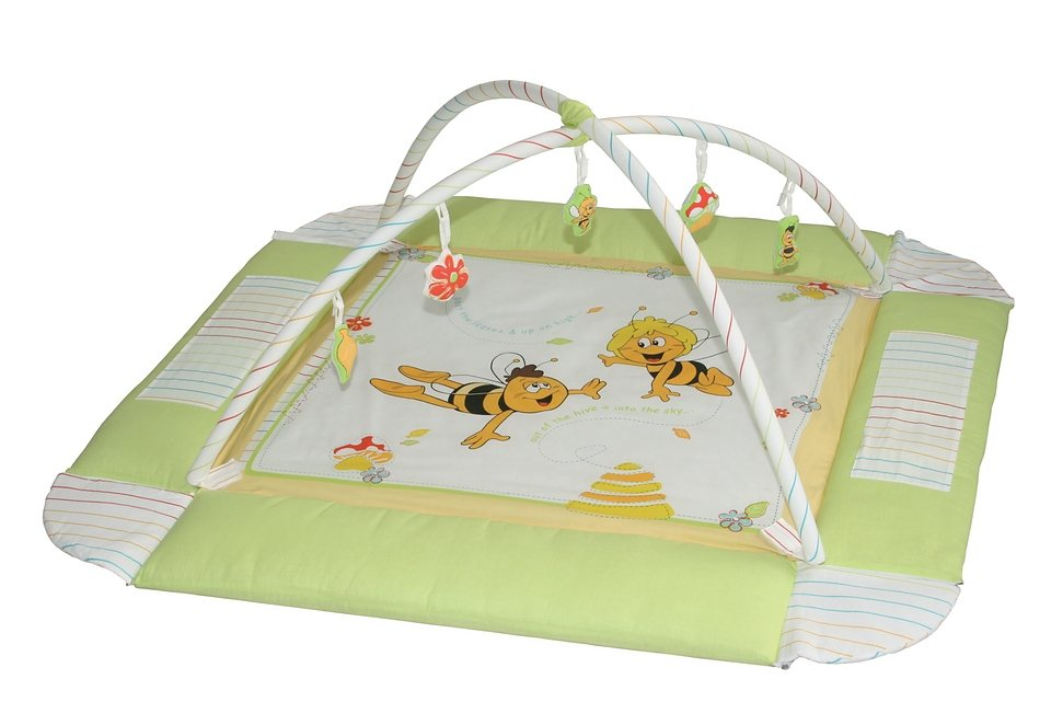Babynest mit Spielbogen, Roba, »Biene Maja« in grün