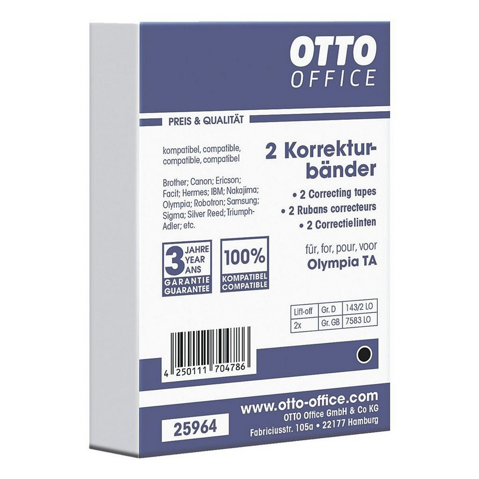 OTTO Office Standard Schreibmaschinen-Korrekturbänder