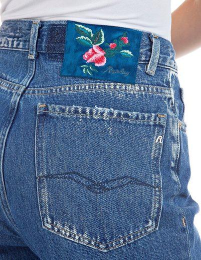 Replay Mom-Jeans  Kiley  7/8 Länge mit Farb-und- Used-Effekten