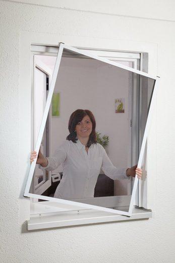 hecht international Insektenschutz-Fenster »MASTER SLIM POLLE«, weiß/anthrazit, BxH: 100x120 cm