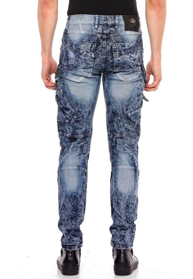 cipo & baxx -  Bequeme Jeans »Sunburst« mit Edelstein Taschen
