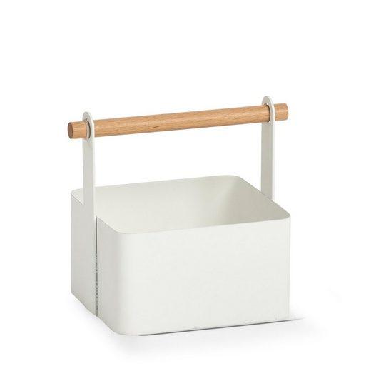 Zeller Present Allzweckkorb (1 Stück), Metall/Holz, im Scandi Design
