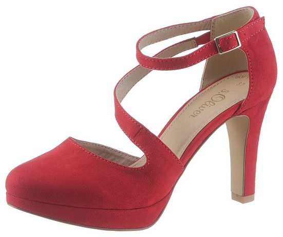 s.Oliver High-Heel-Pumps mit verstellbarer Schnalle