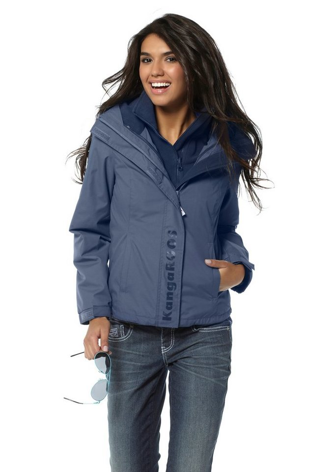 KangaROOS Funktionsjacke mit Fleece und atmungsaktiv in blau