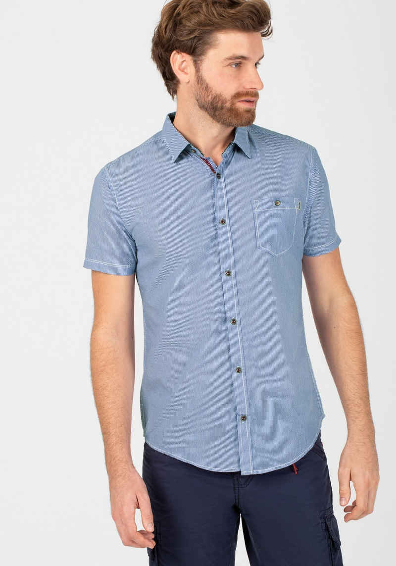 TIMEZONE Kurzarmhemd »striped seersucker shirt«
