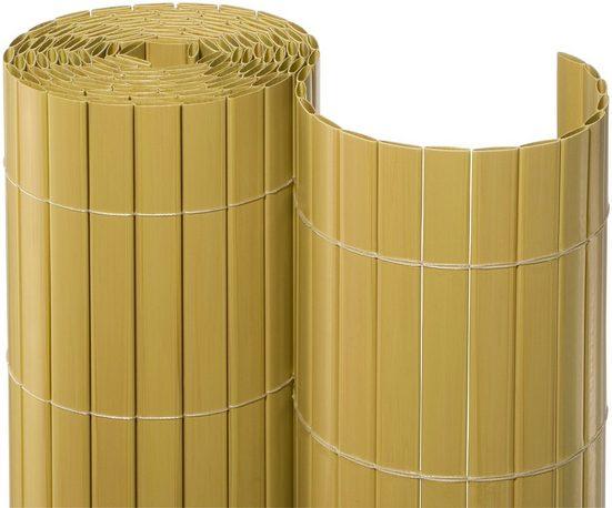 NOOR Balkonsichtschutz BxH: 3x1 Meter, bambusfarben