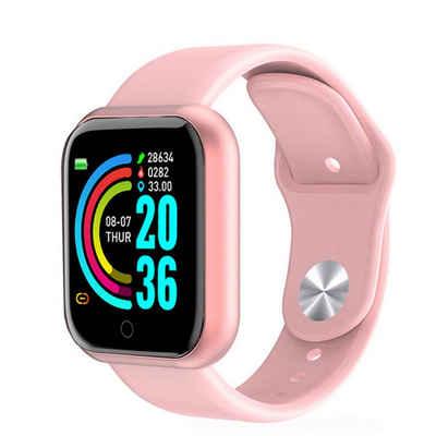 autolock Smartwatch-Armband »D20 Pro Smart Watch Y68 Bluetooth Fitness Tracker Sportuhr Pulsmesser Blutdruck Smart Armband für Android IOS«, Hoher Tragekomfort