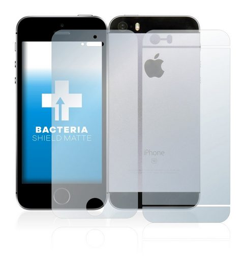 upscreen Schutzfolie »für Apple iPhone SE 2016 (Vorder + Rückseite)«, Folie Schutzfolie matt entspiegelt antibakteriell