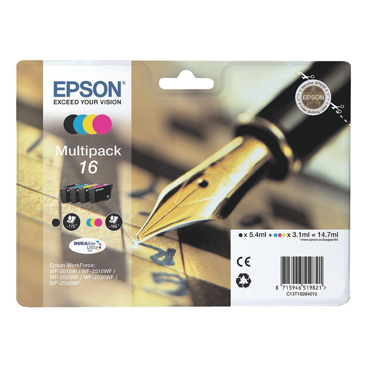 Epson Tintenpatronen-Set »T162640« Nr. 16