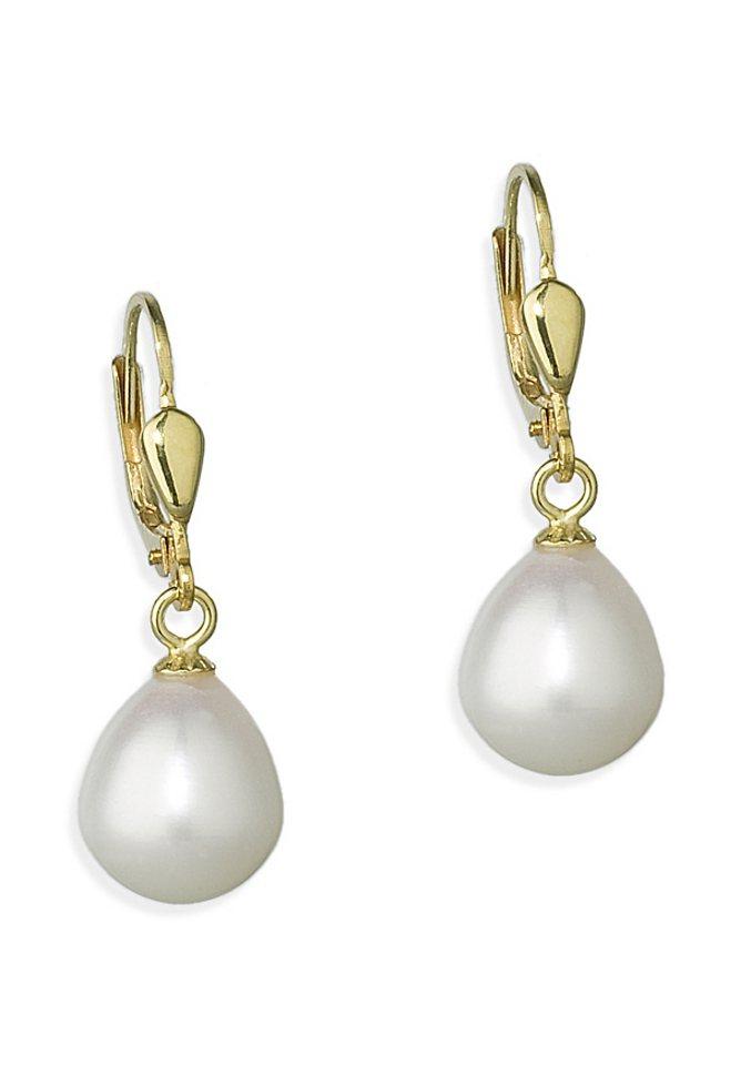 Paar Ohrhänger, Amor, »L81/5 407953« in weiß