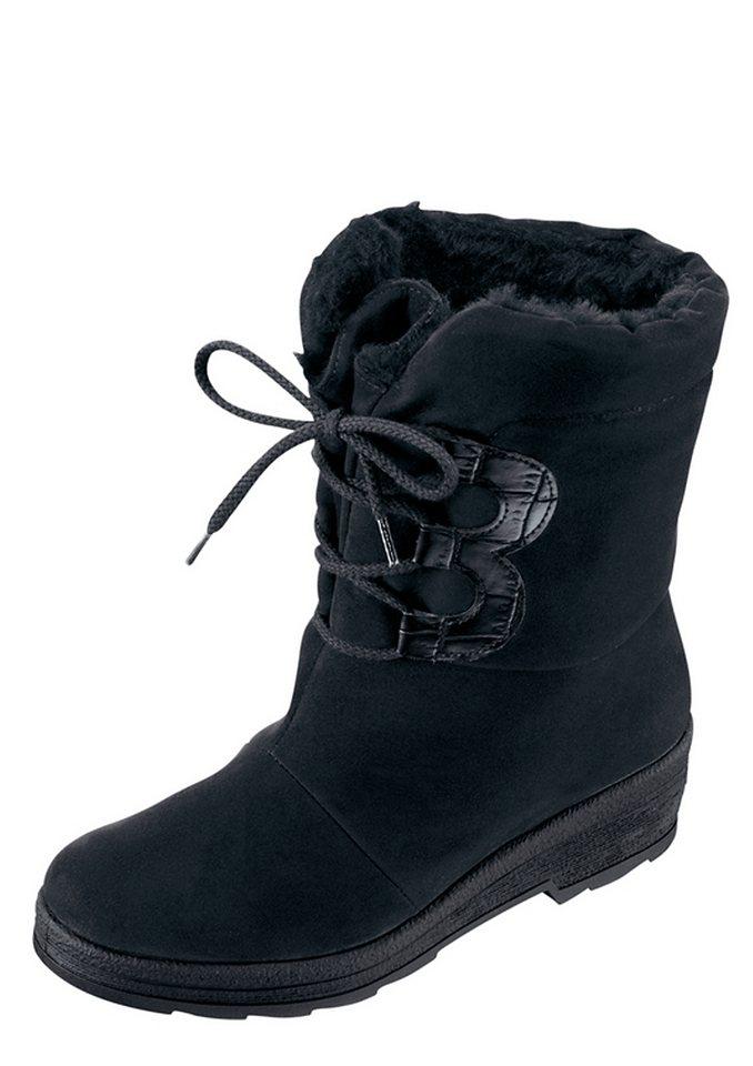 Stiefel mit Synthetik-Laufsohle in schwarz