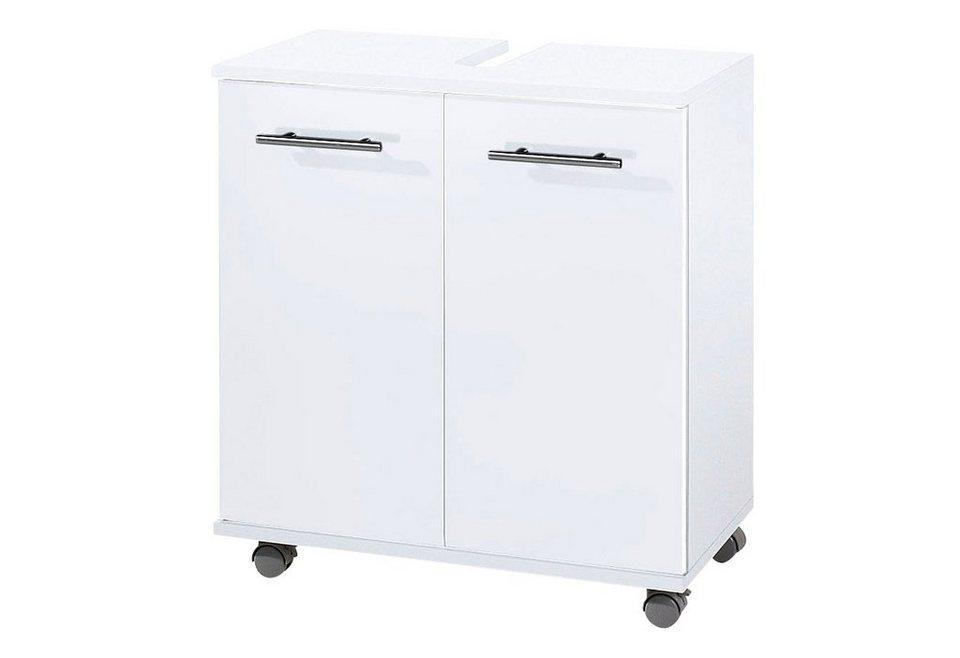 waschbeckenunterschrank schildmeyer sellin mit metallgriffen online kaufen otto. Black Bedroom Furniture Sets. Home Design Ideas
