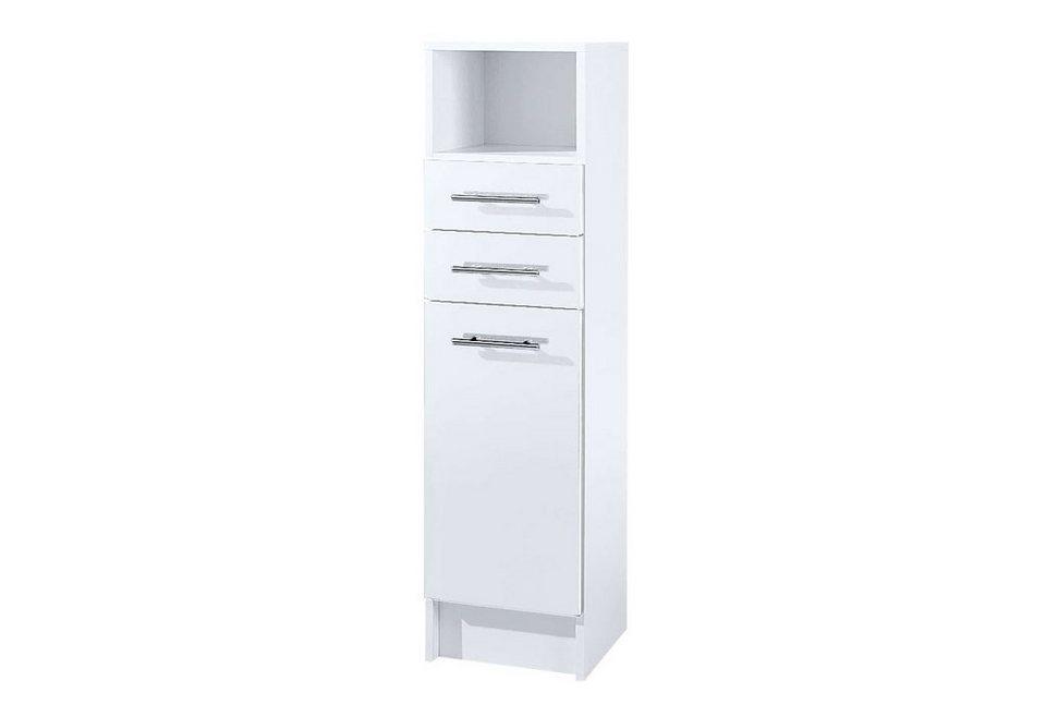 Midischrank, Schildmeyer, »Sellin«, Breite 30 cm in weiß-weiß