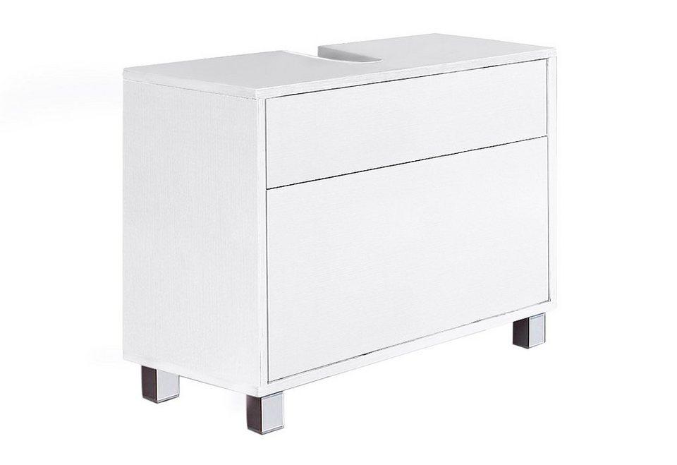Waschbeckenunterschrank, Schildmeyer, »Venezia« in weiß Struktur