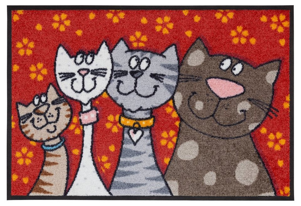 Fussmatte Katzen Salonloewe Rechteckig Hohe 9 Mm Online Kaufen
