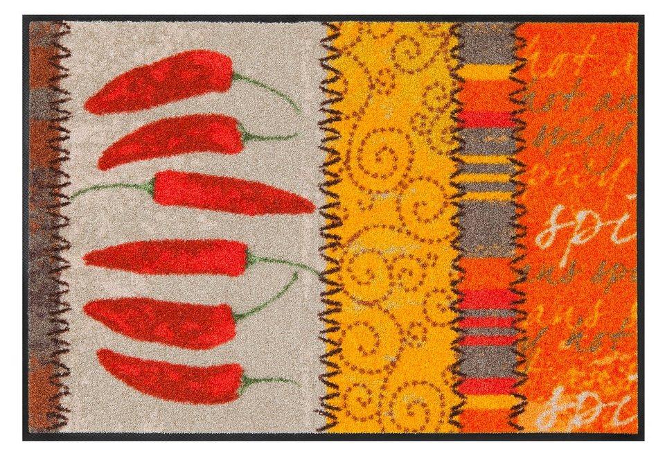 Fußmatte, Salonloewe »Chili« in rot/orange