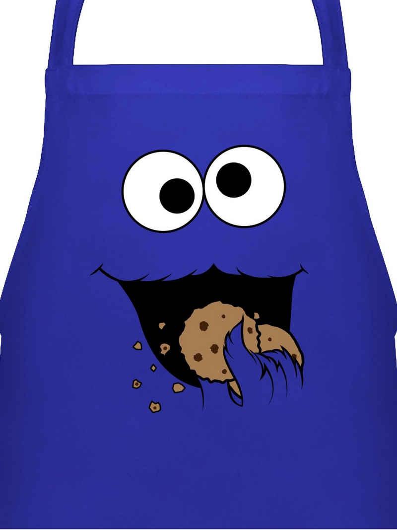 Shirtracer Grillschürze »Keks-Monster - Küchenschürze zum Kochen - Kochschürze«, Lustige Schürzen Küche Geschenk