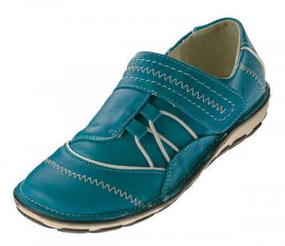 Scandi »Damen Halb Schuhe Slipper 0380 Sneaker Freizeit« Schnürschuh Ziernähte