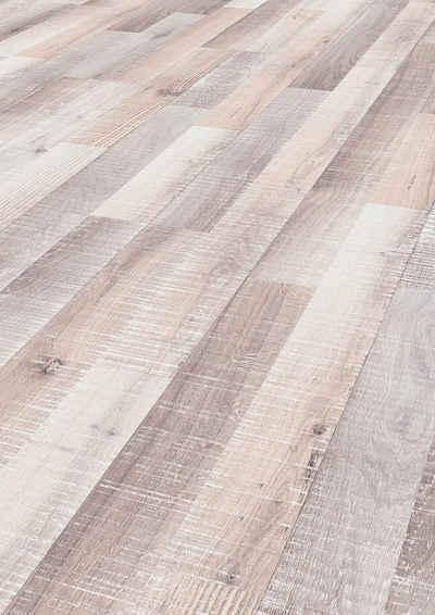 ter Hürne Laminat »Eiche sägerau-grauweiß«, mit fühlbarer Oberfläche und Klicksystem