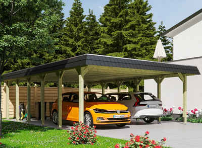 Skanholz Doppelcarport »Spreewald«, 215 cm Einfahrtshöhe