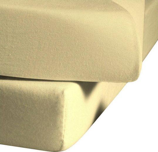 Spannbettlaken »Ines«, fleuresse, hochwertiger Jersey aus reiner Baumwolle