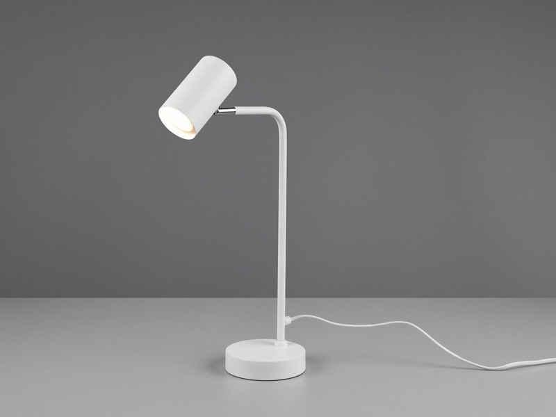 meineWunschleuchte LED Schreibtischlampe, Arbeitsplatzleuchte & Leselampe Bett - LED stufenweise dimmbar - Weiß, für Schreibtisch-Beleuchtung, Nachttischlampe & Büroleuchte