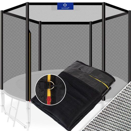 KESSER Gartentrampolin, Trampolin-Sicherheitsnetz aus hochwertigen Materialien einfache Montage Eingangstür mit Reißverschluss