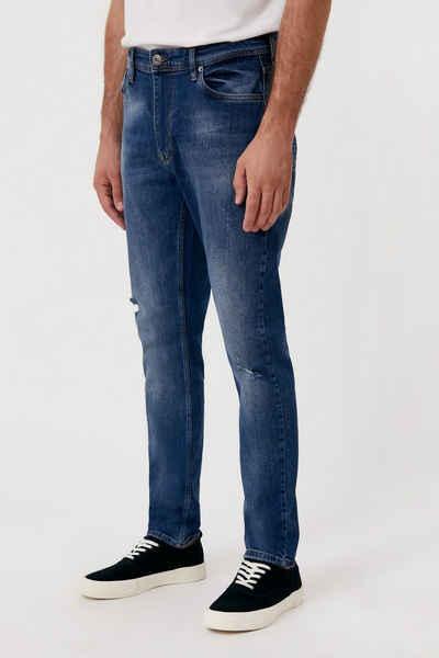 Finn Flare Straight-Jeans mit Destroyed-Effekten