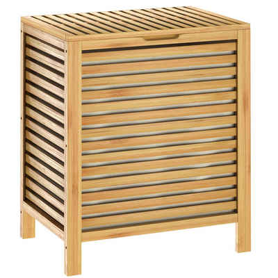 Casaria Wäschekorb (1 Stück), Bambus 62l Wäschebox natur Wäschebehälter Badezimmer Truhe Wäschetonne Wäschesammler Bad