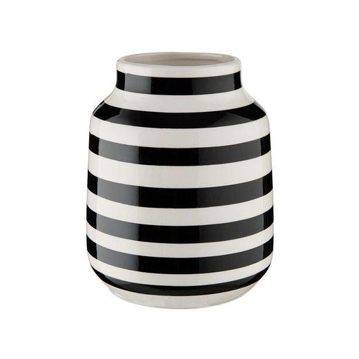 BUTLERS Dekovase »MALIKA Vase gestreift Ø13,5cm«