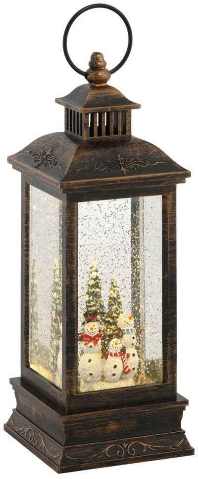 LED Laterne »Schneemann«, mit weihnachtlichen Figuren, Höhe ca. 27,5 cm