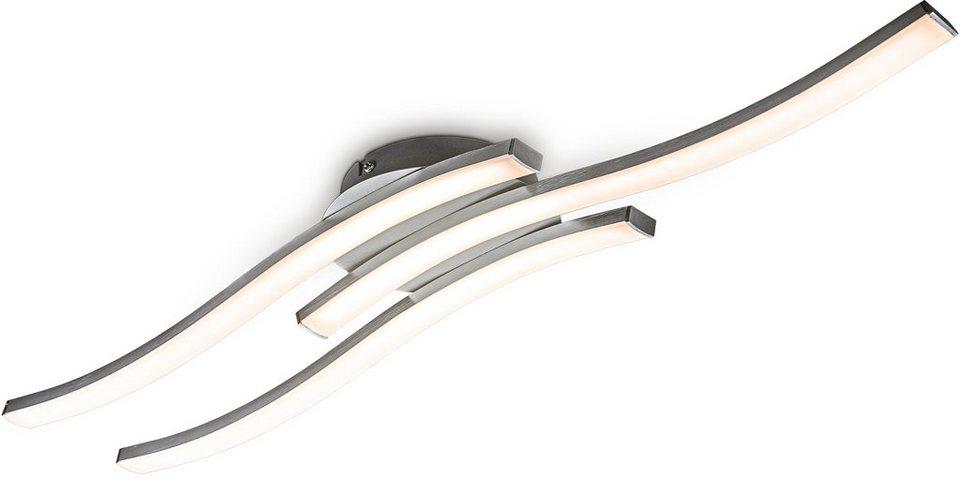 B K Licht Led Deckenleuchte Led Design Deckenlampe Wohnzimmer Modern Acrylweiss Aluoptik 6 Watt Online Kaufen Otto