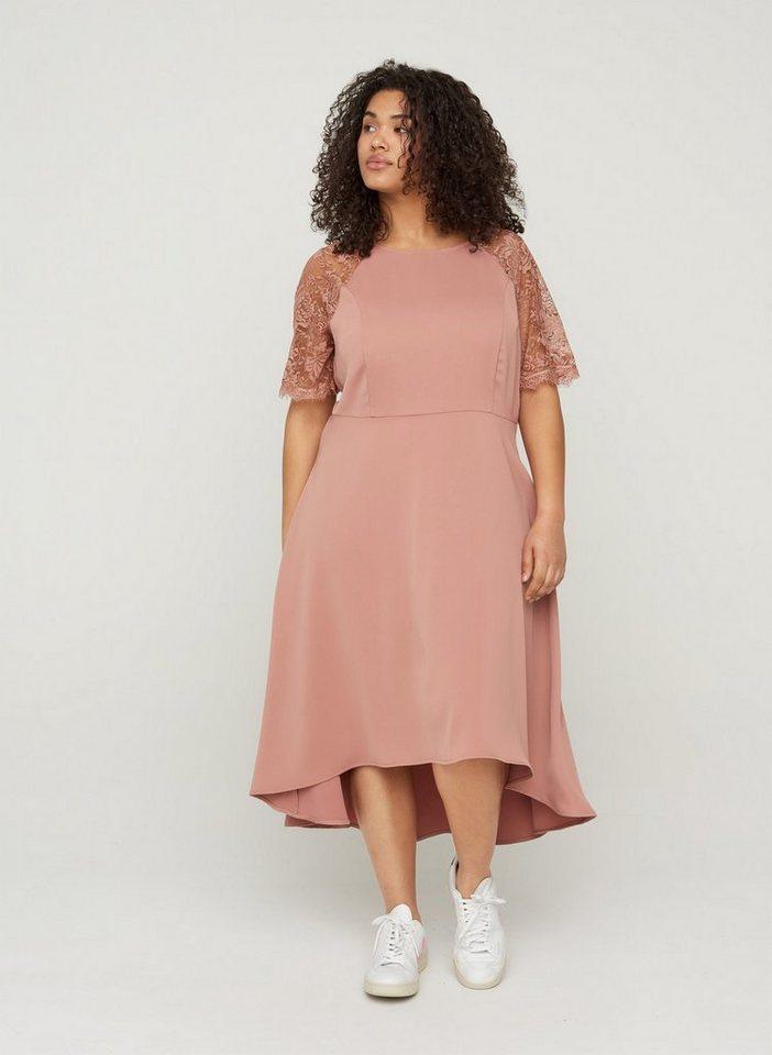 Festtagsmode - Zizzi Abendkleid Große Größen Damen Kurzarm Kleid mit Spitze ›  - Onlineshop OTTO