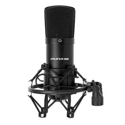 Auna Mikrofon »CM001B Studio-Mikrofon schwarz Kondensator Gesang Instrumente XLR«