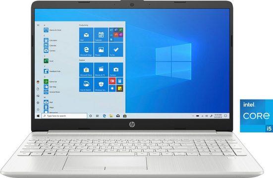 HP 15-dw3201ng Notebook (39,6 cm/15,6 Zoll, Intel Core i5, Iris© Xe Graphics, 512 GB SSD, Kostenloses Upgrade auf Windows 11, sobald verfügbar)