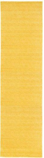 Läufer »GABBEH FEIN UNI«, morgenland, rechteckig, Höhe 18 mm, pure Schurwolle Einfarbig, Wohnzimmer