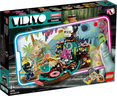 LEGO® Konstruktionsspielsteine »Punk Pirate Ship (43114), LEGO® VIDIYO™«, (615 St), Made in Europe