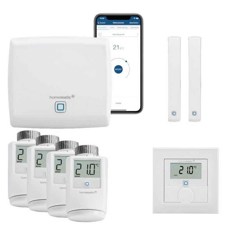 Homematic IP »Smart Home Heizungssteuerung Komplettpaket mit Wandthermostat. Mit kostenloser Smartphone App. Kompatibel mit Alexa und Google Home.« Smart-Home Starter-Set