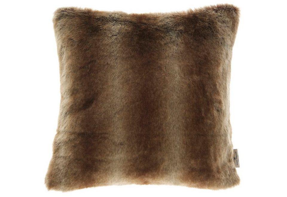 Kissenhülle, Tom Tailor, »Fleece« (1er Pack) in braun