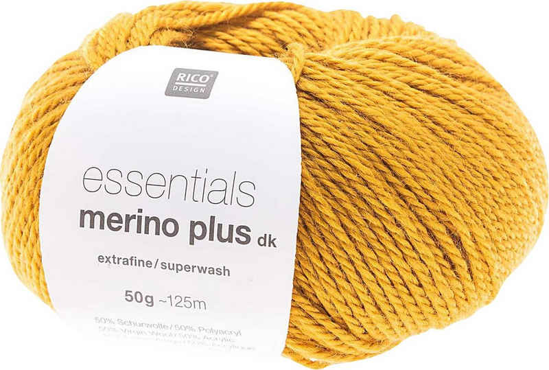 Rico-Design Verlag »Essentials Merino Plus dk« Häkelwolle, 125 m