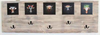 JOKA international Garderobe »Claudio«, Black Forest Garderobe Claudio,120 x 40 x 1.8 cm Moderner Schwarzwaldstyle Portrait von Schwarzwaldtiere vom Starfotograf Sebastian Wehrle