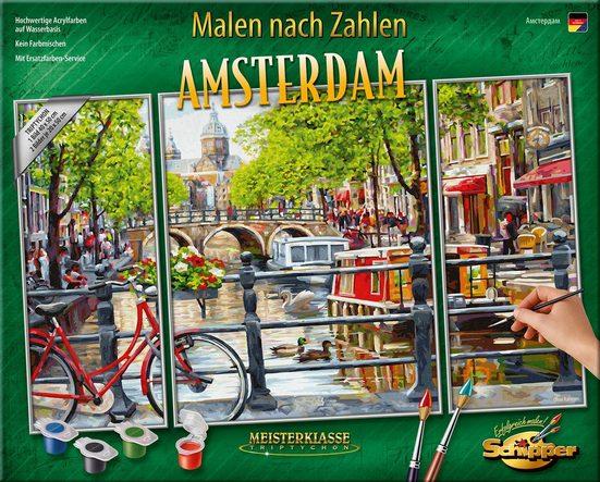 Schipper Malen nach Zahlen »Meisterklasse Triptychon - Amsterdam«, Made in Germany
